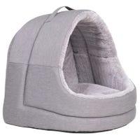 La Doggie Vita Cat House Hooded Grey Cat Bed - Each