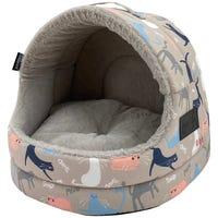 La Doggie Vita Catisse Taupe Hooded Cat Bed - Each