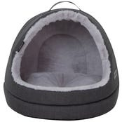 La Doggie Vita Water Resistant Hooded Charcoal Cat Bed - Each