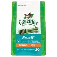 Greenies Mint Petite Dental Dog Treats Pack - 20pk