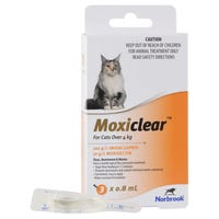 Moxiclear Flea & Worm Treatments For Cats Over 4kg - 3pk