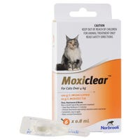 Moxiclear Flea & Worm Treatments For Cats Over 4kg - 6pk