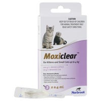 Moxiclear Flea & Worm Treatments For Cats Up To 4kg - 3pk