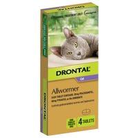 Drontal Cat Wormer Tablet 4kg - 4pk