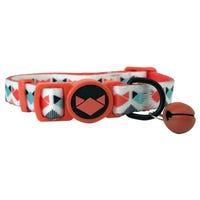 La Doggie Vita White Geo Fashion Collar - Each