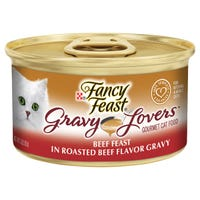 Fancy Feast Gravy Lovers Beef Feast Wet Cat Food - 85g