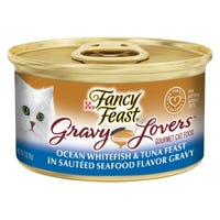 Fancy Feast Gravy Lovers Whitefish & Tuna Feast Wet Cat Food - 85g