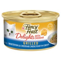 Fancy Feast Delights Cheddar & Whitefish Wet Cat Food - 85g