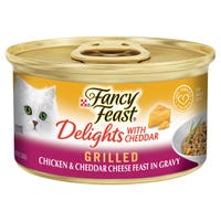 Fancy Feast Delights Cheddar & Chicken Wet Cat Food - 85g