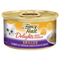 Fancy Feast Delights Cheddar & Turkey Wet Cat Food - 85g