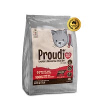 Proudi Cat Roo Beef Frozen Cat Food - 1.2kg