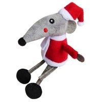 K9 Homes Christmas Santa Mouse Cat Toy - Each