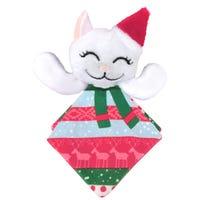 KONG Christmas Crackles Santa Kitty Cat Toy - Each