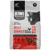 Kiwi Kitchens Air Dried  Beef & Chicken Dry Cat Food -  200g