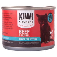Kiwi Kitchens Kitten Beef and Mussel Wet Cat Food - 170g