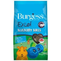 Burgess Excel Blueberry Bakes Small Animal Treats - 80g