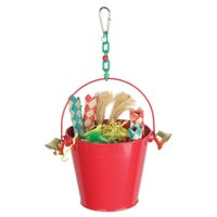 Kazoo Festive Toy Bucket With Bells Bird Toy - Each
