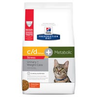 Hill's Prescription Diet Feline Metabolic C/D Urinary Stress and Metabolic Chicken Dry Cat Food - 2.88kg