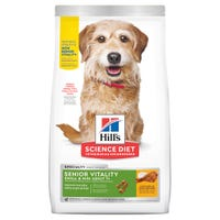 Hill's Science Diet Small Breed Senior Vitality 7+ Chicken & Rice Dry Dog Food - 1.58kg | Best Friends Pets