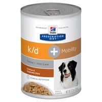 Hill's Prescription Diet Canine K/D and Mobility Kidney Care and Joint Care Chicked and Vegetable Wet Dog Food - 354g