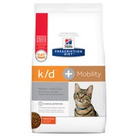 Hill's Prescription Diet Feline K/D Mobility Kidney Care and Joint Care Chicken Dry Cat Food - 2.8kg