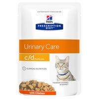 Hill's Prescription Diet Feline C/D Urinary Care Chicken Wet Cat Food Pouch - 85g