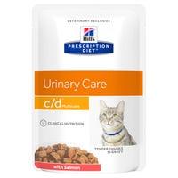 Hill's Prescription Diet Feline C/D Urinary Care Salmon Wet Cat Food Pouch - 85g