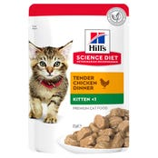 Hills Science Diet Feline Kitten Chicken Wet Cat Food - 85g