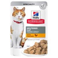Hill's Science Diet Feline Adult Neutered Chicken Wet Cat Food - 85g