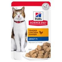 Hill's Science Diet Feline Mature 7+ Chicken Wet Cat Food - 85g