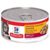 Hill's Science Diet Feline Adult Tender Chicken Dinner Wet Cat Food - 156g