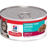 Hill's Science Diet Feline Adult Tender Tuna Dinner Wet Cat Food - 156g