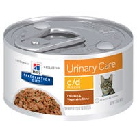 Hill's Prescription Diet Feline C/D Urinary Care Chicken and Vegetables Wet Cat Food - 156g