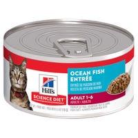 Hill's Science Diet Adult Cat Ocean Fish Entree Wet Cat Food - 156g