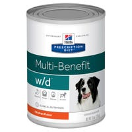 Hill's Prescription Diet Canine W/D Multi-Benefit Digestive, Weight & Glucose Management Chicken Flavour Wet Dog Food - 370g