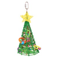 Kazoo Christmas Foraging Tree Bird Toy - Each