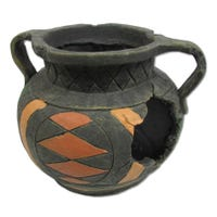 URS Broken Round Pot Fish Ornament - Medium