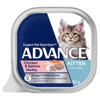 Advance Kitten Total Wellbeing Chicken and Salmon Wet Cat Food - 85g