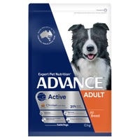 Advance Adult All Breed Chicken Active Dry Dog Food - 13kg