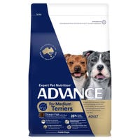 Advance Terrier Medium Breed Dry Dog Food - 13kg