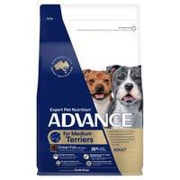 Advance Terrier Medium Breed Dry Dog Food - 2.5kg