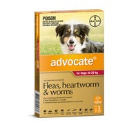 Advocate Flea And Worming Spot On Large Dog 10-25kg - 3pk