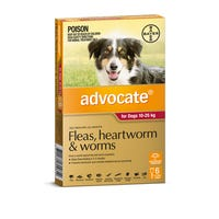 Advocate Flea And Worming Spot On Large Dog 10-25kg - 6pk