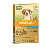 Advocate Flea And Worming Spot On Medium Dog 4-10kg - 3pk
