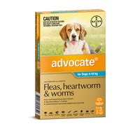 Advocate Flea And Worming Spot On Medium Dog 4-10kg - 3pk
