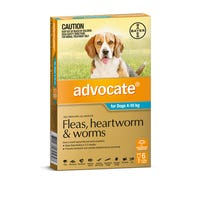 Advocate Flea And Worming Spot On Medium Dog 4-10kg - 6pk