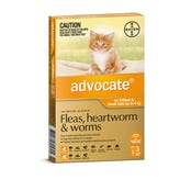Advocate Flea And Worming Spot On Small Cat 0-4kg - 3pk