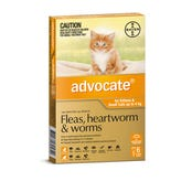 Advocate Flea And Worming Spot On Small Cat 0-4kg - 6pk