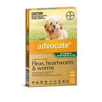 Advocate Flea And Worming Spot On Small Dog 0-4kg - 3pk