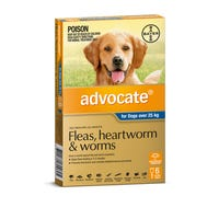 Advocate Flea And Worming Spot On Extra Large Dog 25kg+ - 6pk